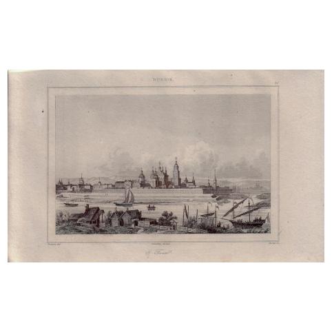 Гравюра «Панорама Твери»