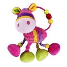Мягка игрушка-подвеска Коровка с погремушкой