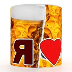 Кружка с 3D печатью Я люблю пиво