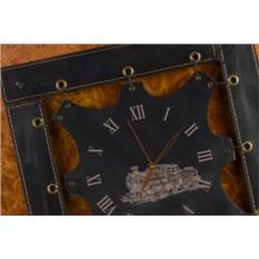 Часы из кожи Паровоз (черный)
