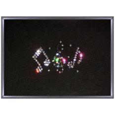 Картина из кристаллов Swarovski «Ноты»