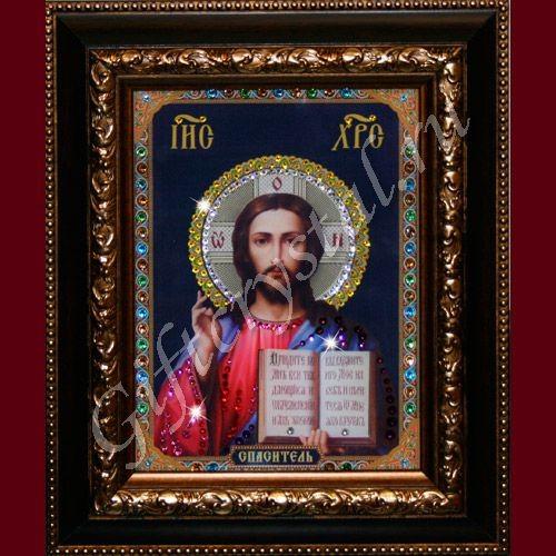 Картина из кристаллов Swarovski Икона Христос Спаситель