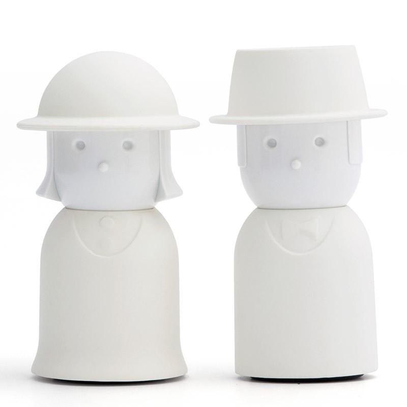 Солонка+перечница Mr.Pepper & Mrs. Salt, белый