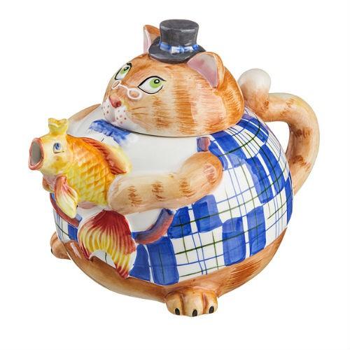 Заварочный чайник Налей мне удачи, золотая рыбка!