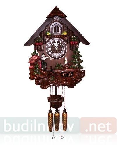 Настенные часы с кукушкой и дровосеком