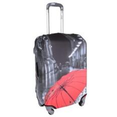 Большой чехол для чемодана Красный зонт
