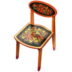 Детский стул с художественной росписью Хохлома