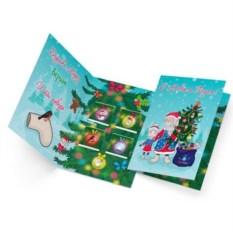 Откртыка с шоколадом С Новым годом! Дед Мороз и Снегурочка