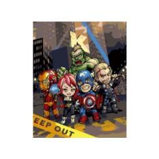Картина по номерам «Мстители-аниматроники»