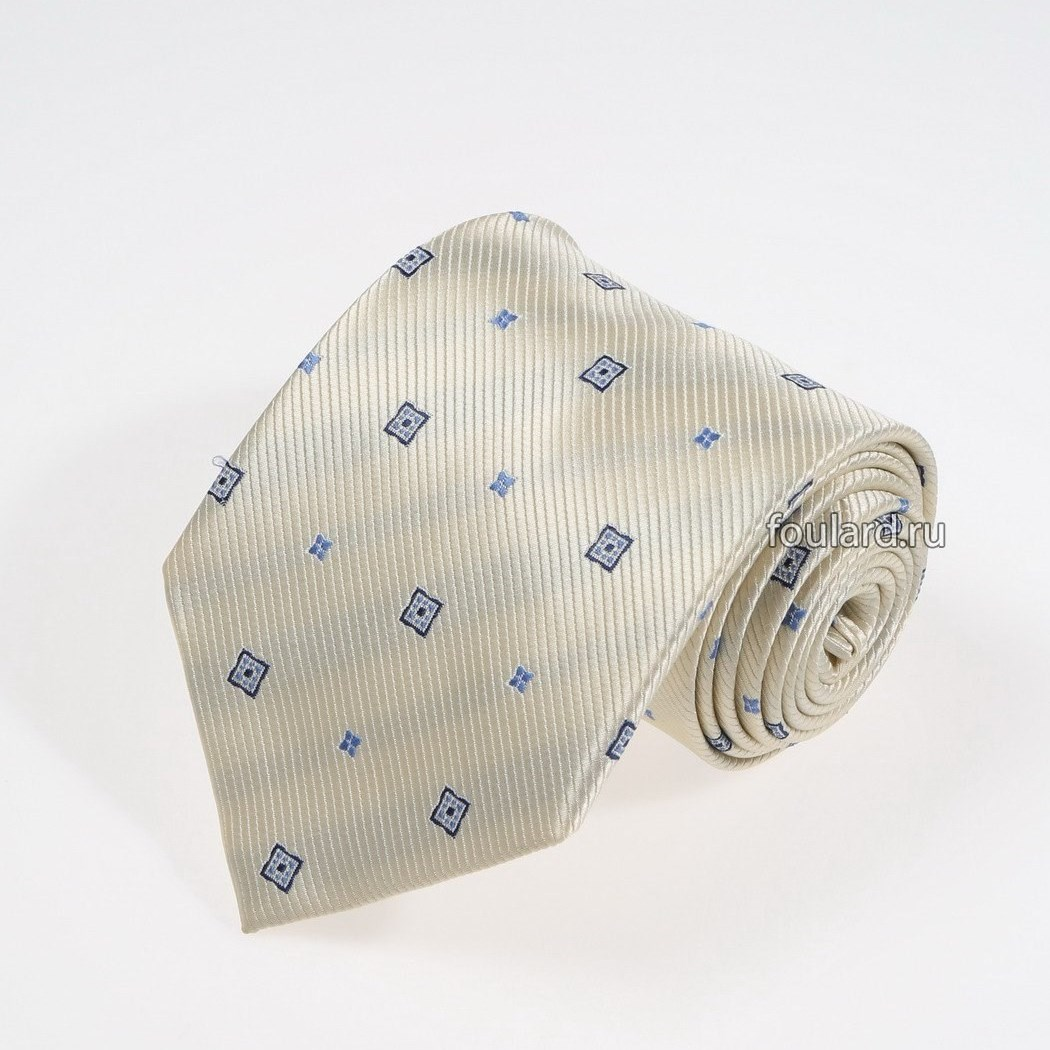 Бежевый галстук с узорами Idea Seta