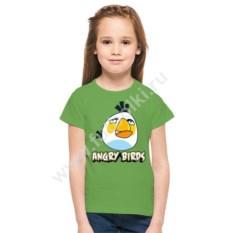 Детская футболка Белая птица из Angry birds