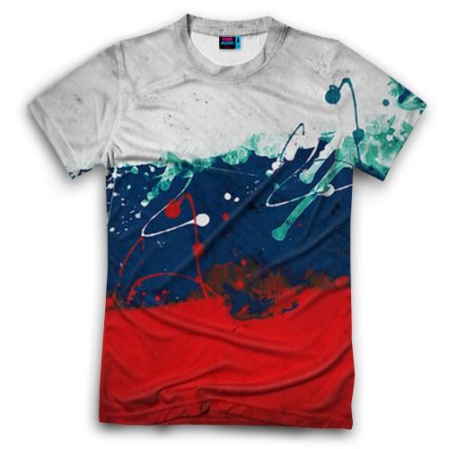 Мужская футболка 3D с полной запечаткой Флаг