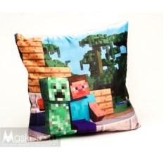 Атласная подушка со Стивом и Крипером