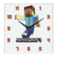 Квадратные настенные часы Minecraft