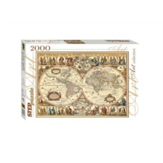 Мозаика-пазл Историческая карта мира