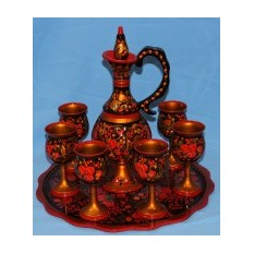 Набор для вина хохломская роспись Царский стол
