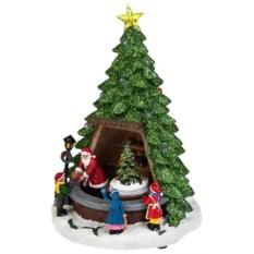 Двигающееся украшение Дед Мороз дарит подарки
