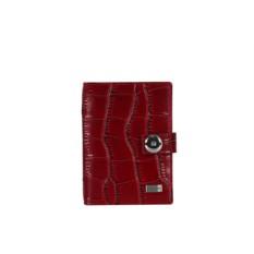 Красная женская обложка для документов Fabretti