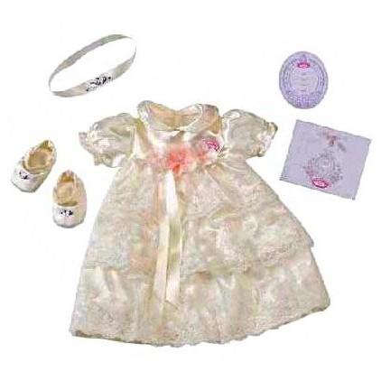 Одежда для крестин de luxe для куклы Baby born