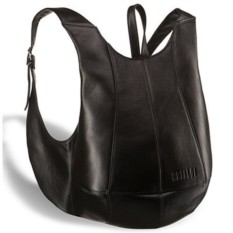 Черный кожаный рюкзак Brialdi Scorpion