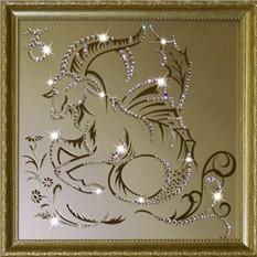 Картина с кристаллами Сваровски Козерог