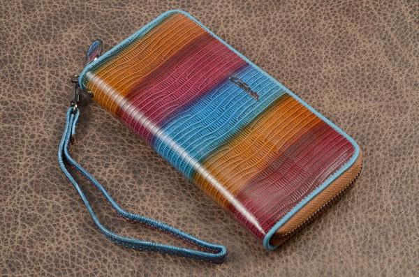 Кошелек G.Ferretti (синий, красный, оранжевый, нат. кожа)