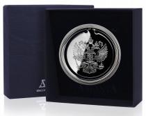 Серебряная закладка для книг Герб