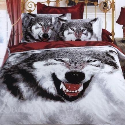 Постельное белье Siberian wolf, евро