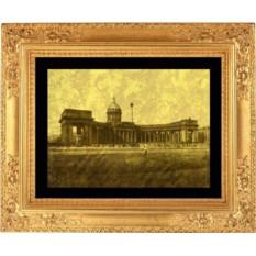Гравюра из золота Казанский собор
