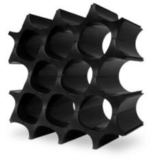 Чёрный универсальный органайзер Wine cell Соты