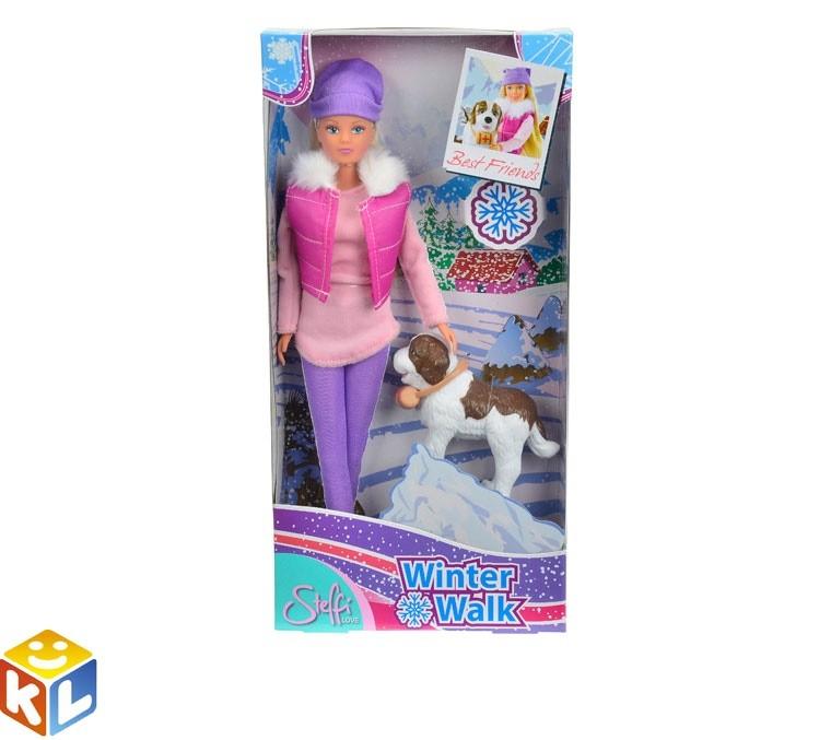 Кукла Штеффи на прогулке с собакой, 29 см, Simba