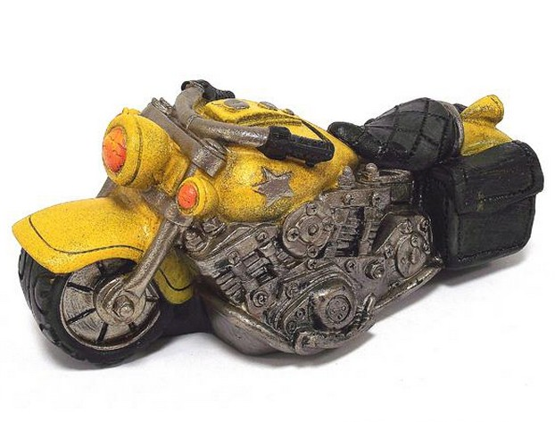 Желтая копилка Мотоцикл
