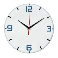 Настенные часы с голубыми цифрами