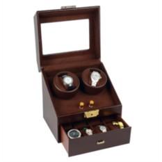 Кожаная шкатулка для часов с автоподзаводом «Респект»