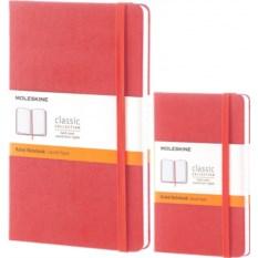 Коралловая записная книжка в линейку Moleskine Classic