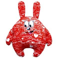 Красная подушка-игрушка Зайчик I LOVE YOU