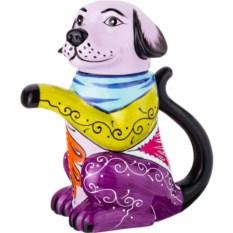 Чайник с ручной росписью Собачка