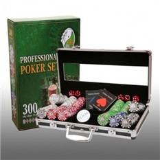 Покер в алюминиевом кейсе, 300 фишек