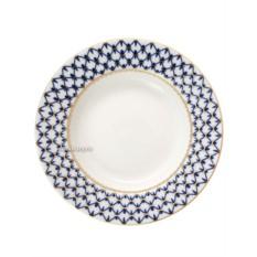 Фарфоровая глубокая тарелка Кобальтовая сетка