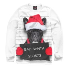 Мужской свитшот Плохой Санта