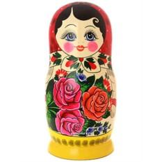 Набор русских матрешек Хохлома семеновская