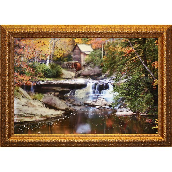 Картина Swarovski Водяная мельница