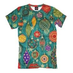 Мужская футболка Новогодние украшения