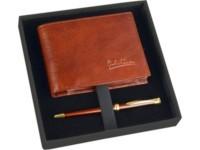 Подарочный набор: портмоне, шариковая ручка, коричневый
