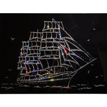 Хрустальная картина «Парусник Мир»