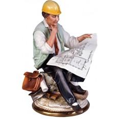 Фарфоровая скульптура «Инженер»
