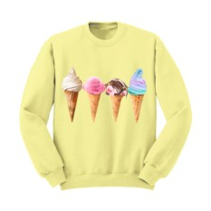 Свитшот FOUR ICE CREAM CONES