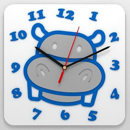Детские часы «Бегемот»