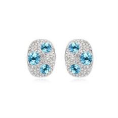 Серьги с голубыми кристаллами «Россыпь»