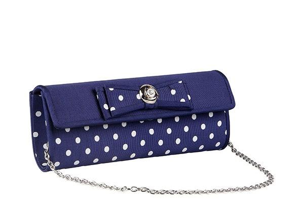 Синяя вечерняя женская сумка Fabretti